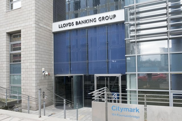 Lloyds Banking Group, which owns Bank of Scotland and Scottish Widows, has become the latest lender to cut reserves for bad debts on a brighter economic outlook. Picture: Ian Rutherford