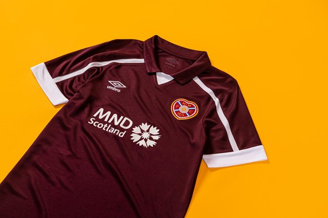 The new Hearts home kit. Picture: Heart of Midlothian FC