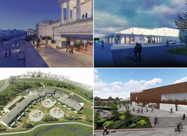 Some of the new school buildings that will help educate the Edinburgh children of the future.