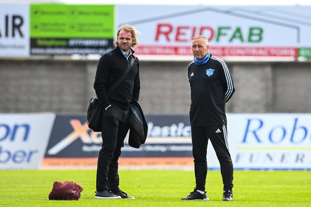 Hearts manager Robbie Neilson and Peterhead manager Jim McInally.