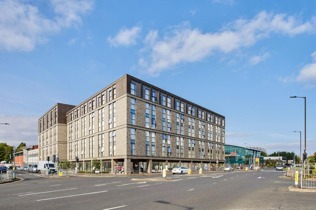 The Westfield Road project near Murrayfield Stadium will provide almost 400 beds when completed. Image: Infinite 3D
