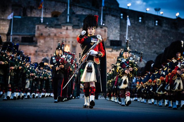 The Tattoo has been staged at Edinburgh Castle esplanade since 1950.