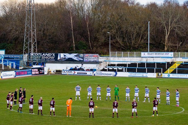 Hearts travel to Cappielow on Tuesday night. Picture: SNS