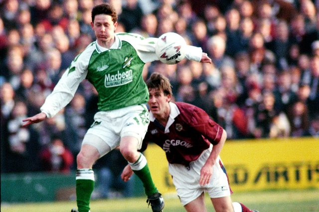 Kevin McAllister made 112 appearances for Hibs.