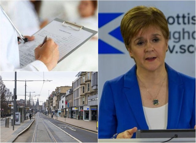 Nicola Sturgeon unveiled the latest Covid-19 figures for Scotland during a briefing on Wednesday.