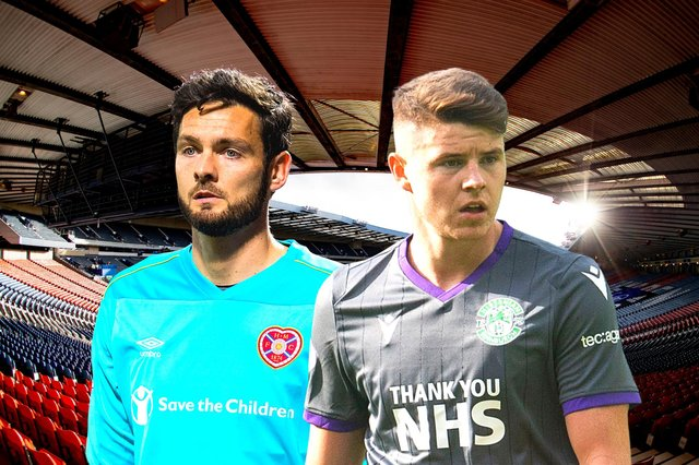 Craig Gordon of Hearts and Hibs striker Kevin Nisbet have both been included in the squad