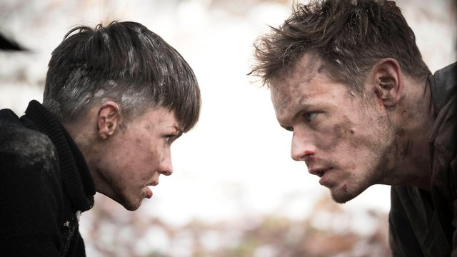 Sam Heughan plays Special Forces operative Tom Buckingham alongside Ruby Rose (Picture: Sky Cinema)