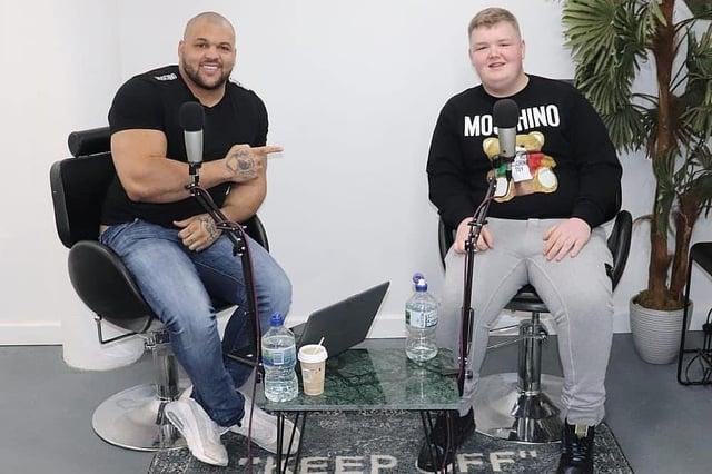 Brandon with host Kenny Mackay