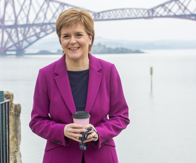 First Minister Nicola Sturgeon hit the streets of South Queensferry on Tuesday, April 20,  with SNP candidate Sarah Masson who is running for Edinburgh Western (Photo: Lisa Ferguson).