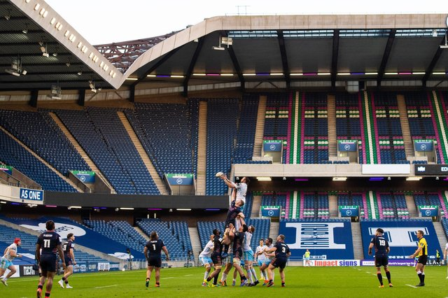 Murrayfield will be empty once again when Edinburgh play Ulster on June 5. Picture: Paul Devlin/SNS