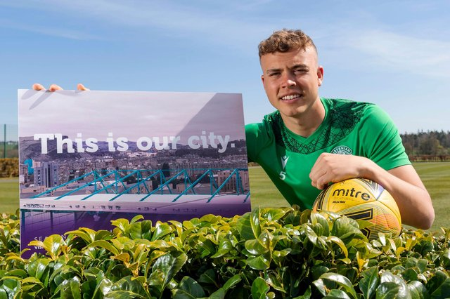 With just a few games remaining, Hibs defender Ryan Porteous is focused on living up to the high standards the squad set themselves at the start of the season. Photo by Mark Scates / SNS Group