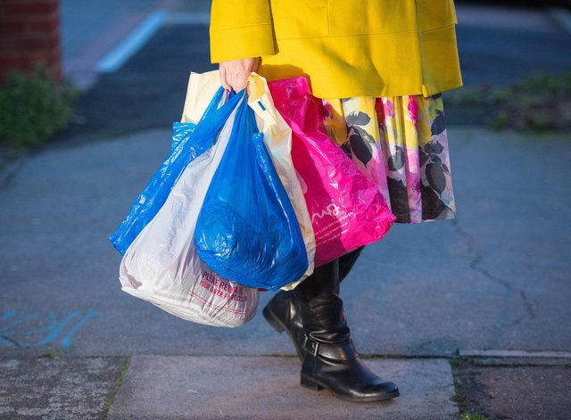 Kevin Buckle was laden with shopping - but at least the bags broke his fall