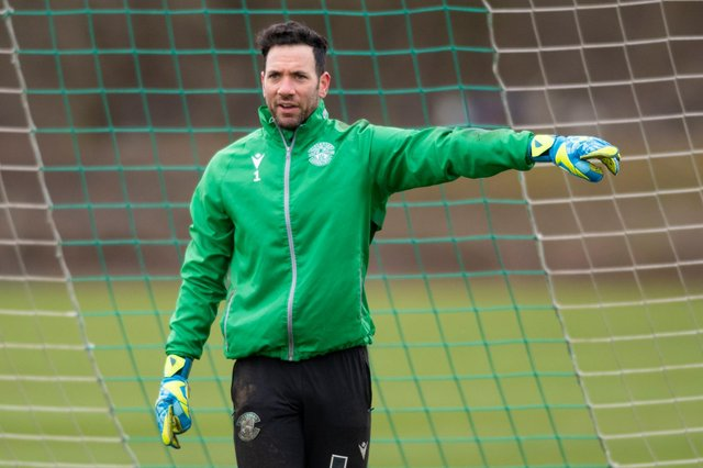 Goalkeeper Ofir Marciano has informed the club that he not sign a new contract and will leave Hibs this summer. Photo by Mark Scates / SNS Group