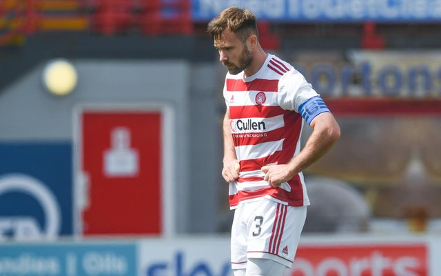Scott McMann captained Hamilton Accies in their final match in the Scottish Premiership last Sunday. Picture: SNS
