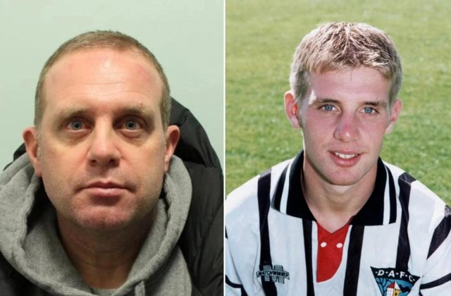 Andrew Hawkins, 45, once played for Dunfermline. Pictures: City of London Police/ The Scottish Sun