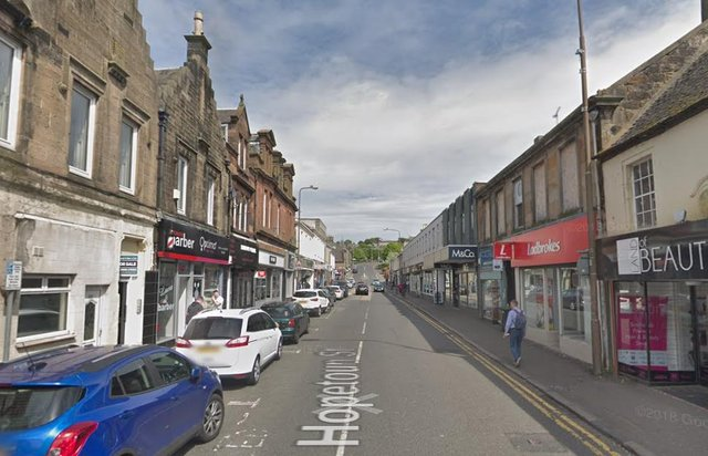 Detectives are hunting a thief who stole £3,000 worth of children's clothing from a premises in Hopetoun Street, Bathgate. Pic: Google