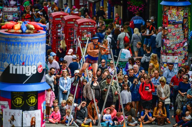 A record audience of more than three million attended the Edinburgh Festival Fringe in 2019. Picture: Jeff J Mitchell