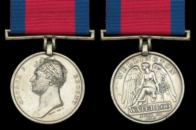 Sgt William Porteous' Waterloo 1815 medal.JPG