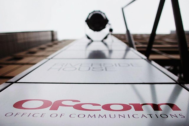 The Ofcom logo outside of its London headquarters (Photo: Bruno Vincent/Getty Images)