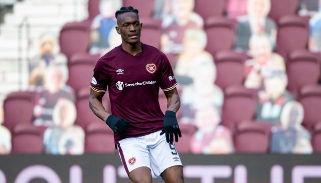 Armand Gnanduillet has impressed since signing for Hearts. Picture: SNS