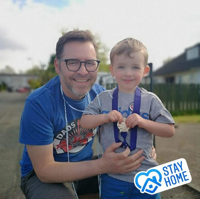 Thomas Lynch and his son Ollie