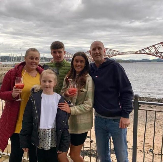 Alan and Dawn Potter with their three children - Erin (18), Aidan (17) and Reigan (9).