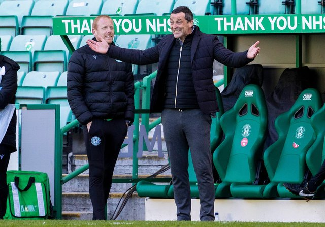 Hibs manager Jack Ross said he was proud of the way his players dug in to defeat Motherwell and secure another Scottish Cup semi-final appearance. Photo by Alan Harvey / SNS Group