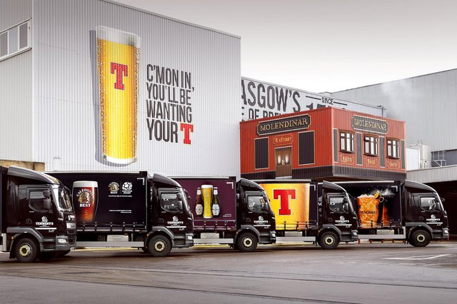Tennent's, which is brewed in Glasgow, is Scotland's biggest selling lager brand. Picture: Andy Buchanan