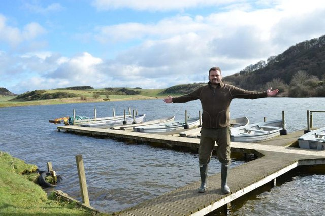 John Callison pictured in March when he took over at Stenhouse Trout Fishery. The family have decided their future lies away from the facility. Picture: Nigel Duncan