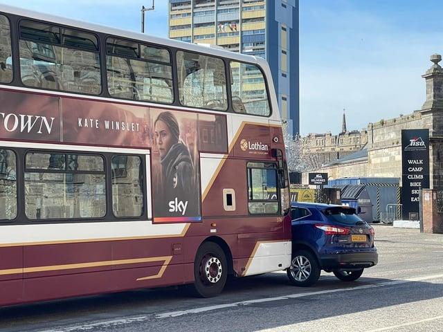 Incident involving a Lothian bus on Commercial Street, Edinburgh.