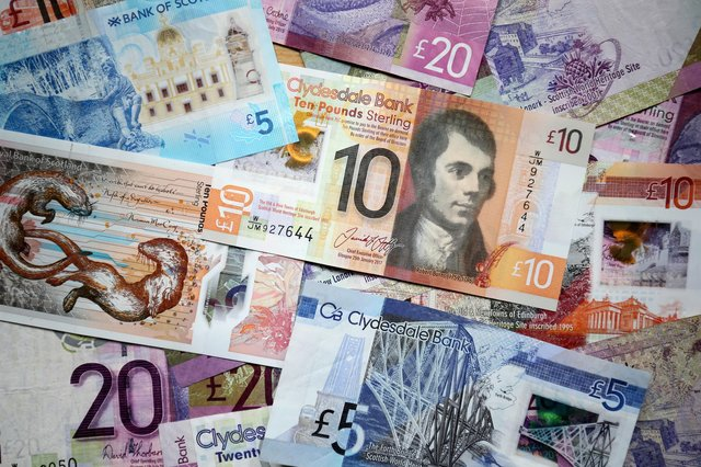 File photo dated 09/04/18 of Scottish bank notes. A third of people living in England have rejected Scottish bank notes as fake, a survey found. PRESS ASSOCIATION Photo. Issue date: Monday April 22, 2019. A total of 33% of the 1,710 people surveyed said they thought the notes were counterfeit. See PA story POLITICS Currency. Photo credit should read: Jane Barlow/PA Wire