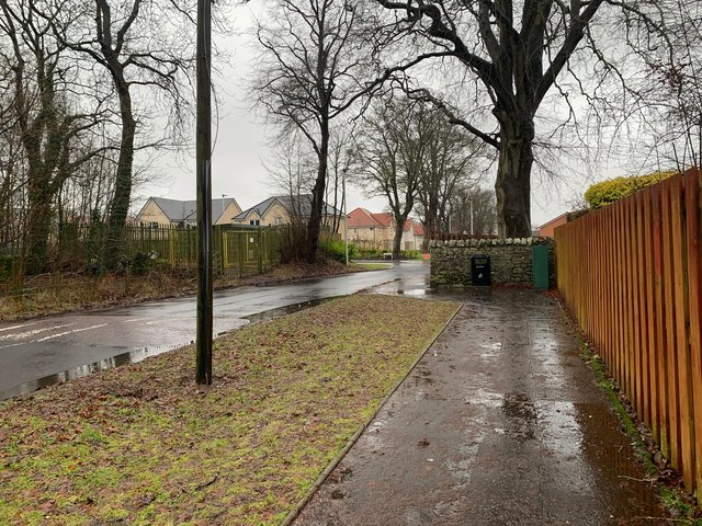 What the area in Balerno looks like now, after housebuilding.