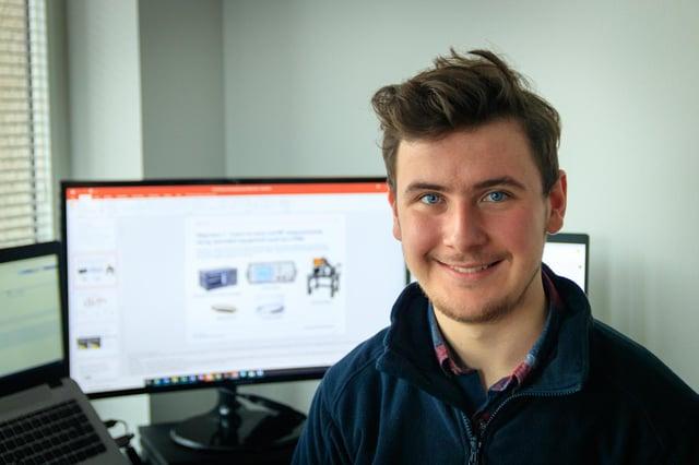 Leonardo design engineering graduate apprentice Ross Pringle