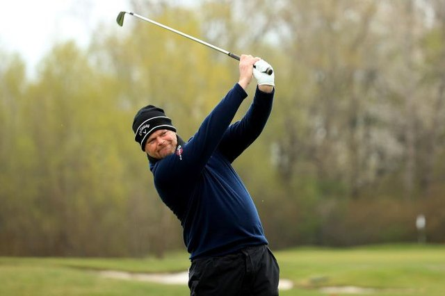 David Drysdale in action during the Austrian Golf Open at Diamond Country Club in Atzenbrugg, near Vienna. Picture: Andrew Redington/Getty Images.