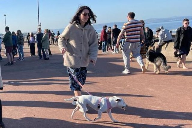 Portobello Beach was busy on Saturday as locals flocked to the seaside to enjoy the sunny weather.