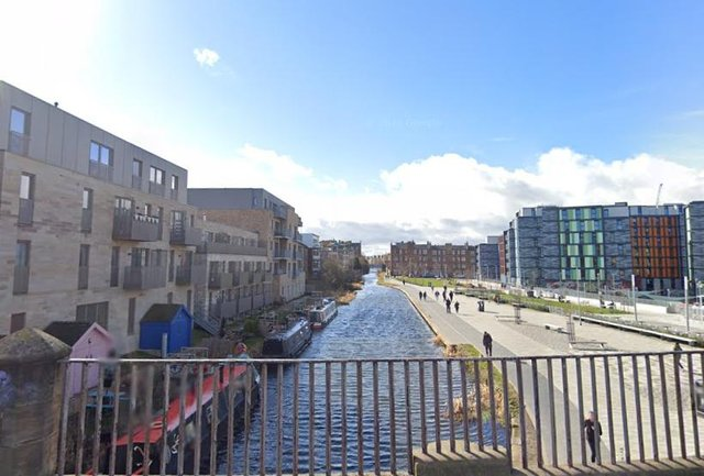 The teenagers found the suspected shotgun while magnet fishing in the Union Canal near Viewforth, Edinburgh. Pic: Google