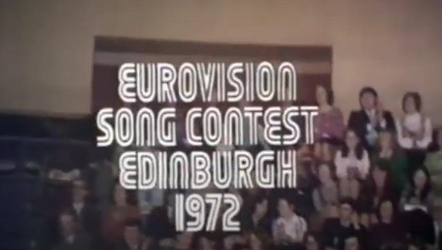This is when Edinburgh hosted the Eurovision Song Contest in 1972