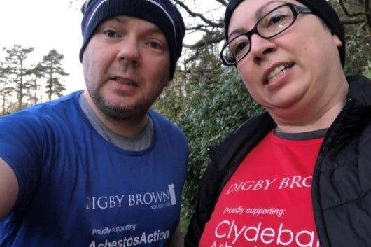 A team of around 25 walkers aimed to walk 140,000 steps every day between April 1-7 with the added hope of raising £3,000 for support groups Clydebank Asbestos Group and Asbestos Action.