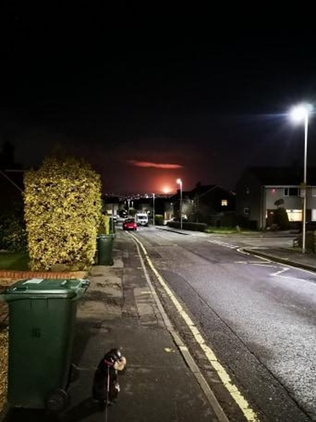 The flaring was visible last night from Baberton. Picture: Paul McDougall.
