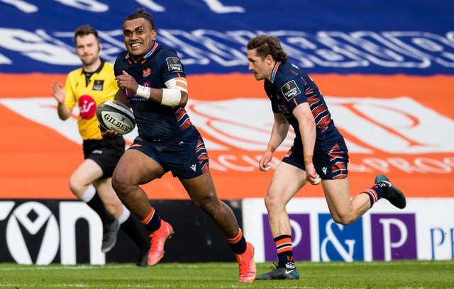 Winger Eroni Sau is leaving Edinburgh at the end of the season. Picture: Ross Parker/SNS