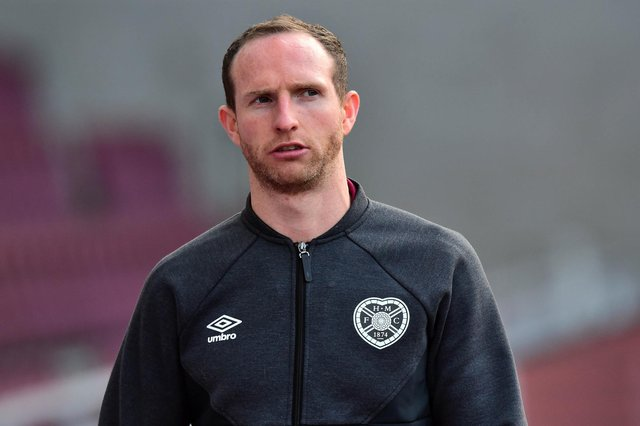 Aidy White has missed a chunk of Hearts' pre-season due to a back spasm. Picture: SNS