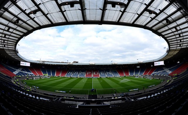 Scotland's scheduled group match against England at Wembley could be played in front of 10,000 spectators - but will crowds be allowed at Hampden? (Pic: Getty Images)