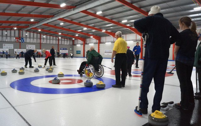 Edinburgh curling club training before the first lockdown began.