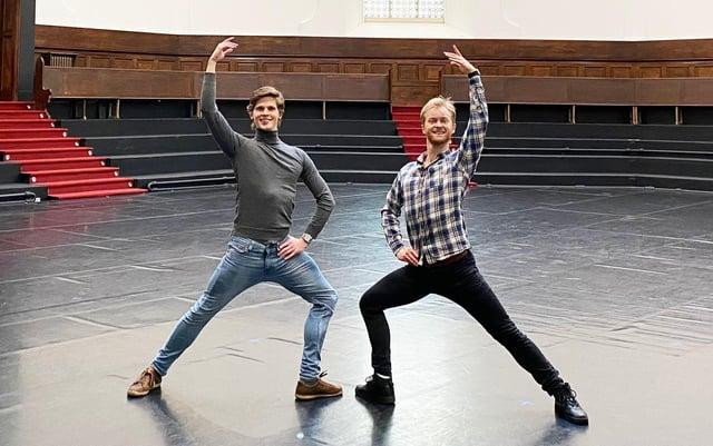 EFB school principal Johan Christensen (right) and tutor Luke Schaufuss