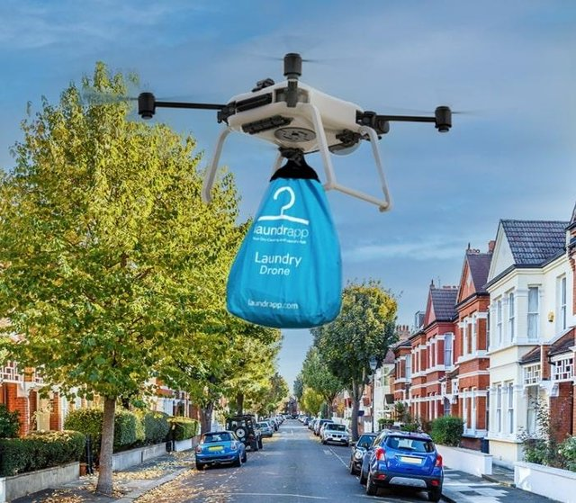 Laundrapp which has a base in Edinburgh hopes to launch a drone laundry service (Photo: Laundrapp).