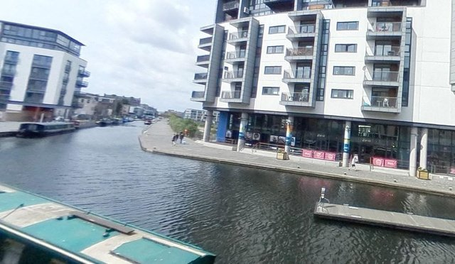 The building would sit on the southern bank of the Union Canal where it ends at Lochrin Basin. Picture: GoogleMaps