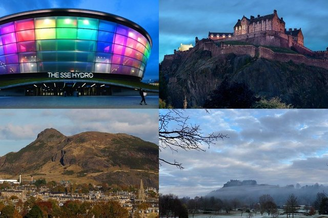 A VisitScotland survey has revealed the five top awe-inspiring city sights across Scotland.