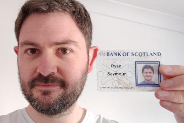 Ryan Seymour with his old ID