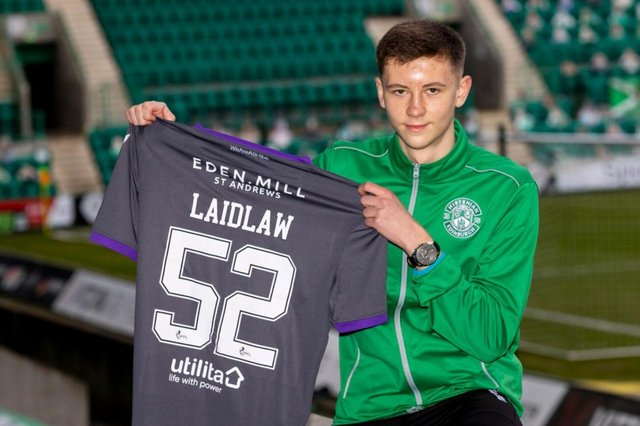 Ethan Laidlaw is included in the Hibs squad for the first time today