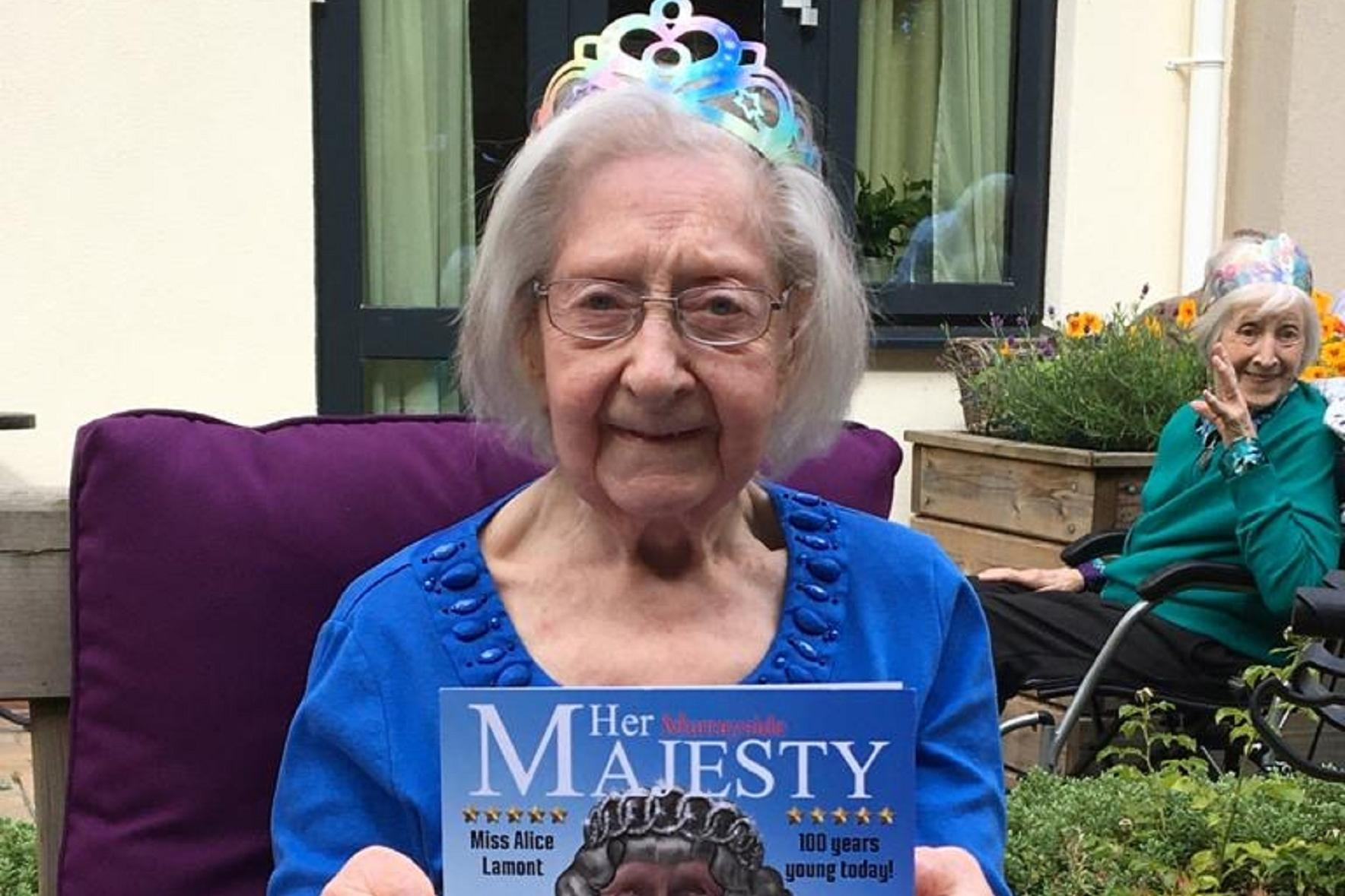Edinburgh care home resident is treated like a queen on her 100th birthday